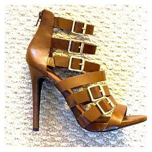 Brown Gladiator Heels (NWOT)